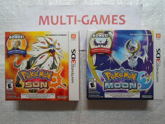 Kit Pokémon Moon + Sun Pack Com Bonecos Lacrados