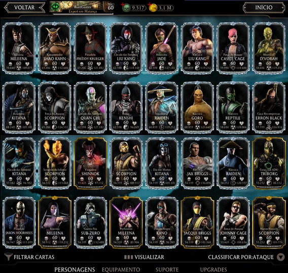 Moedas Almas Personagens Mortal Kombat -android