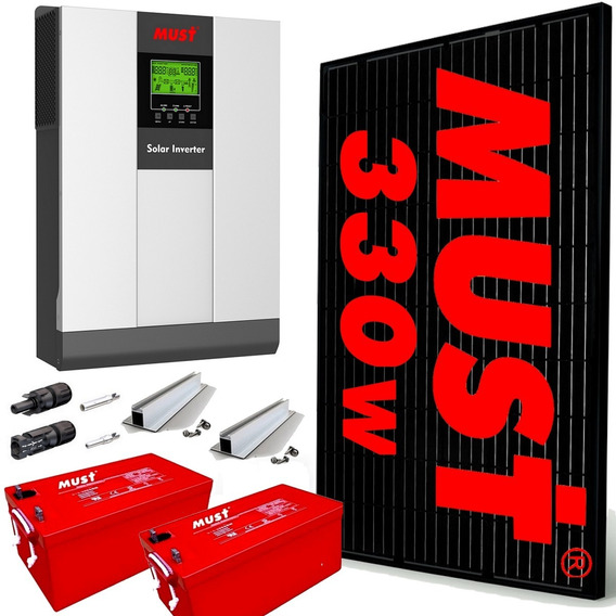 Kit Solar Must Completo 4950 W Dia 3kw Mppt 80a Wi Fi M8