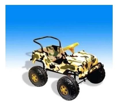 Karting Loriel Jeep 4x4 Camuflado A Pedal Niños Niñas