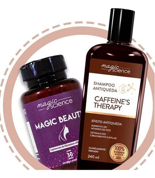 Shampoo Caffeines Therapy + Magic Beauty (pílula Da Beleza)