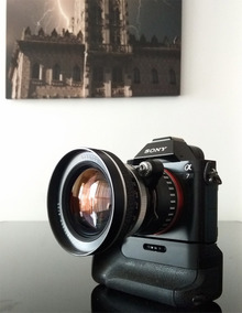 Lente Carl Zeiss Jena Flektogon 25mm +adaptador Sony E-mount