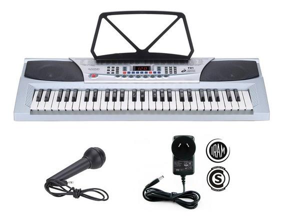 Teclado Musical Electronico Microfono + Cargador 54 Teclas