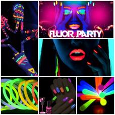 Fiesta Fluor-fiesta Disco-animación P/ Chicos A Domicilio