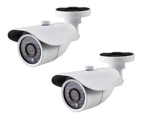2 Câmeras Segurança 36 Leds Branca Cftv Infra Prova Água