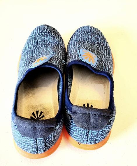 Zapatilla Kioshi Niños Yumi Kioknit Azul Naranja Oferta!!!