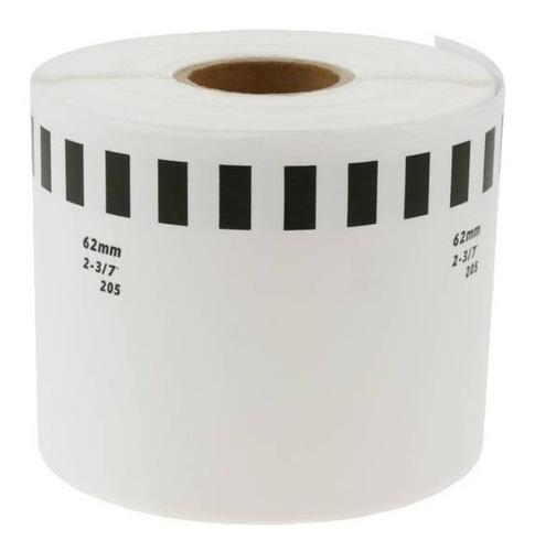 10 Rollos De Etiqueta Adhesiva Impresora Brother Ql 62mmx30m