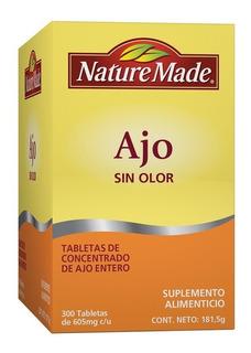 Nature Made 300 Tabletas Ajo Concentrado. Sin Olor. Envíogra