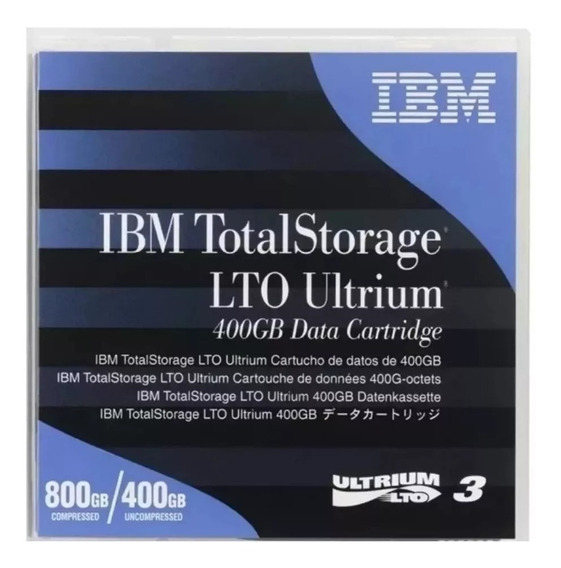 Fita Lto 3 Ultrium 800/400 Gb Data Cartridge Ibm