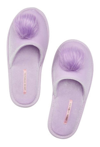 Pantuflas Velvet Pom Pom Victoria Secret Pink