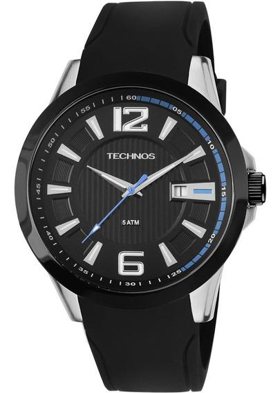 Relógio Technos Masculino 2115knw/8p Pulseira Silicone Preto