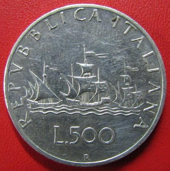 Italia Moneda Plata 500 Liras 1964 R Xf Km 98