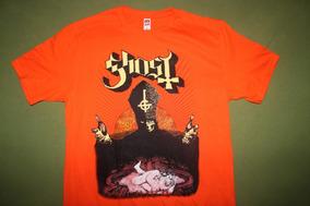 Gusanobass Playera Rock Metal Ghost Meliora Orange X L