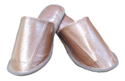 Pantuflas De Damas De Cuero Espectacular Vacuno Guns Leather