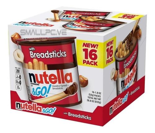 Nutella Con Palitos De Pan Chocolate 52 Gr 16 Unidades