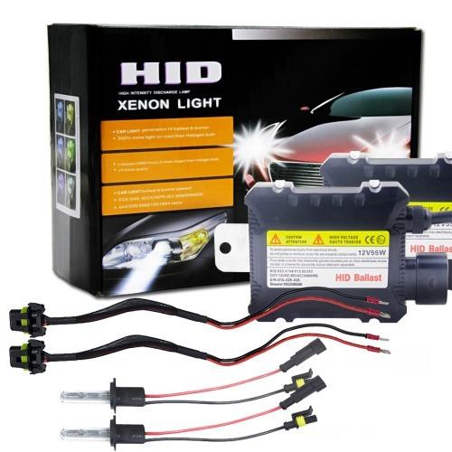 Kit 55w Hid H7 6000k Xenon Bombilla Luz Descarga Intensidad
