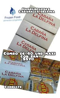 Combo De Hamburguesas Cabaña La Delfina Maxi Con Pan