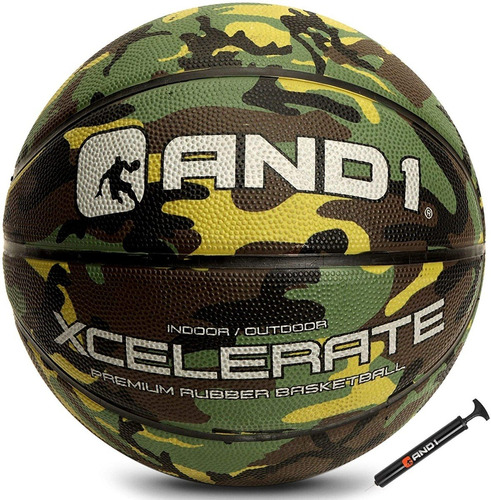 Balon De Baloncesto And1 Xcelerate Basketball # 7 + Inflador