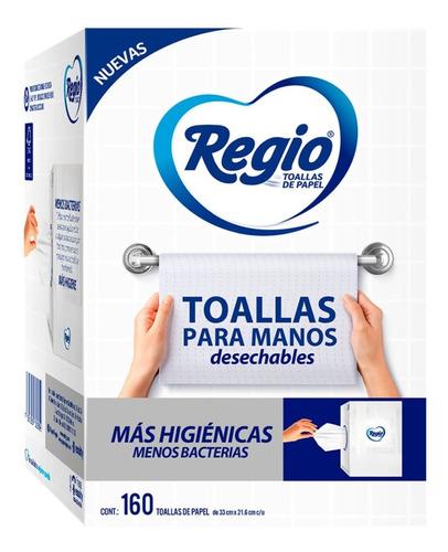 Regio Toallas Desechables Para Manos 160 Hojas