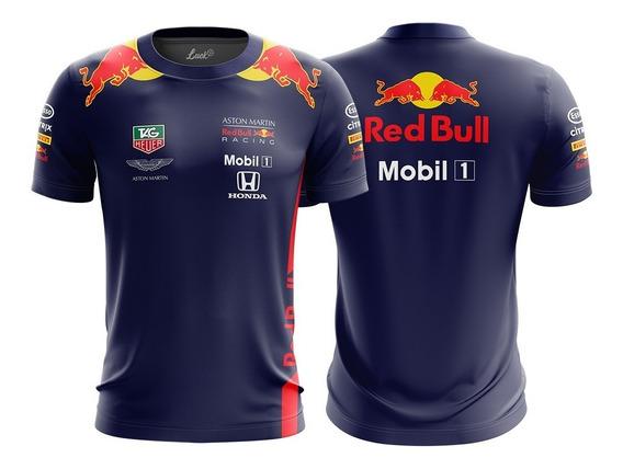 Camiseta F1 Red Bull Racing Camisa Poliéster Lu.005