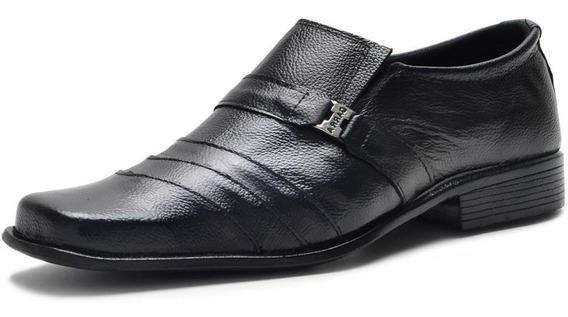 Sapato Social Masculino Em Couro De Bico Quadrado Garra