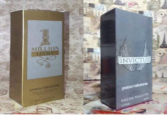 Kit Promoção Perfumes Masc ,1million Lucky / Invictus