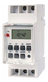 Temporizador Digital Timer Programable Riel Din Reloj Luz