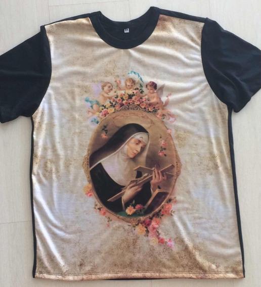 Camiseta Santa Rita De Cássia Moda Católica, Religiosa