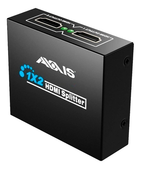 Adaptador Hdmi Divisor 1 A 2 Monitores Nuevo Original Axxis