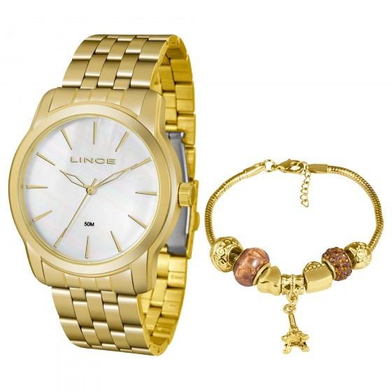 Relógio Lince Lrg4551l Ku87b1kx Dourado Feminino - Refinado
