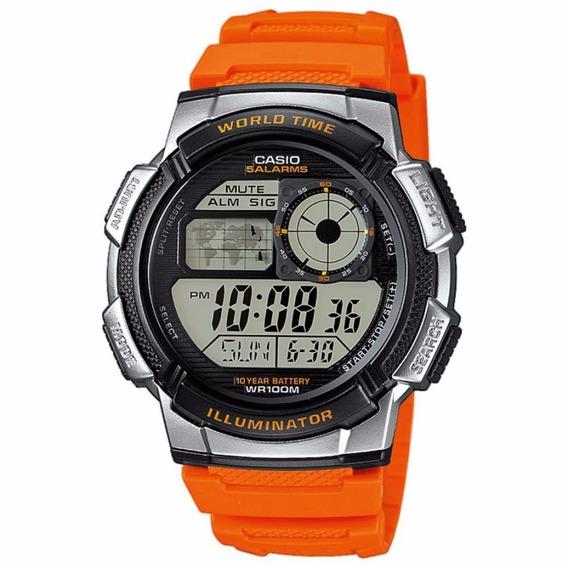Relogio Casio Ae-1000w-4bvdf H. Mundial 5 Alarmes Ae-1000