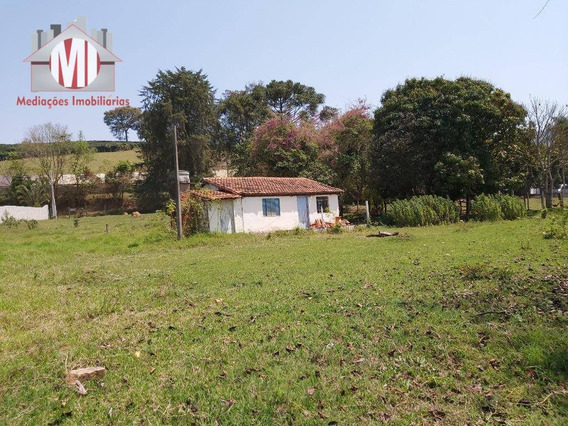 Chácara Com Casa Simples, Terreno Plano Com Nascente, Próxima Da Cidade À Venda, 4000 M² Por R$ 160.000 - Rural - Socorro/sp - Ch0528