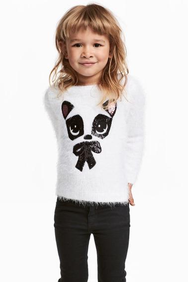 H&m Sweater Peluche Niña Talle 1 1/2-2 Años