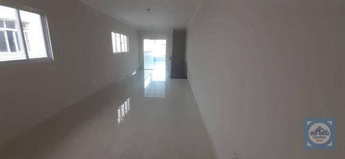 Casa Com 3 Dormitórios À Venda, 166 M² Por R$ 806.000,00 - Marapé - Santos/sp - Ca1078