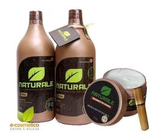 Escova Naturale 100% Orgânica 2x1000ml + Masc. Bambu 300g.