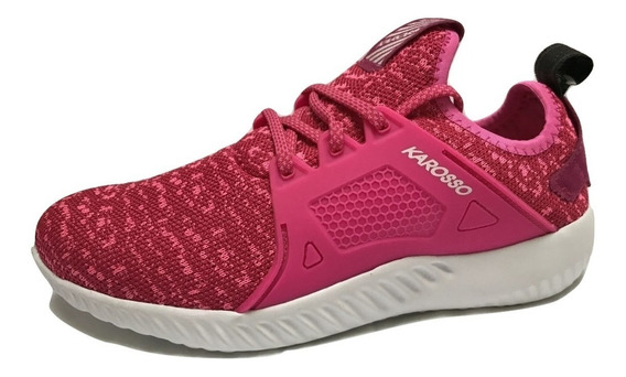 Tenis Mujer Running Karosso 8204 Deportivo Textil Fucsia
