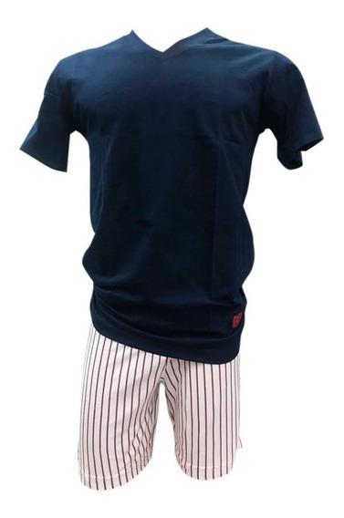 Pijama Eyelit Manga Corta Escote V Algodón