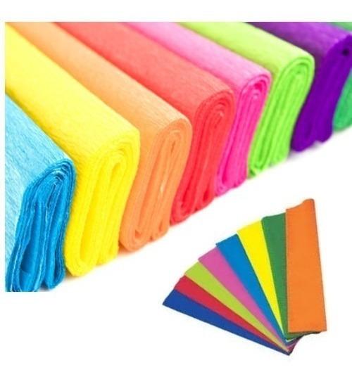 Papel Crepe Luma Rollo 0.50x2mts Varios Colores X Unidad