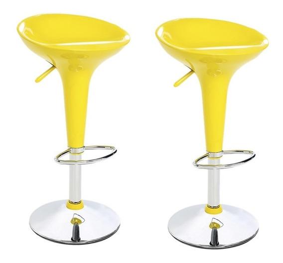 Conjunto Com 2 Banquetas Abs Amarelo Ls-101 - Best