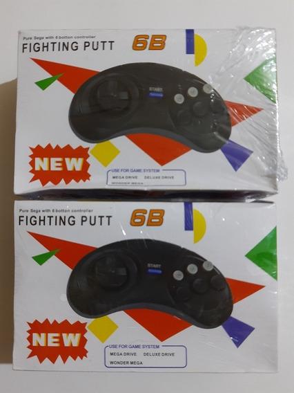 Kit Com 2 Controles Mega Drive Novos Controle Mega Drive