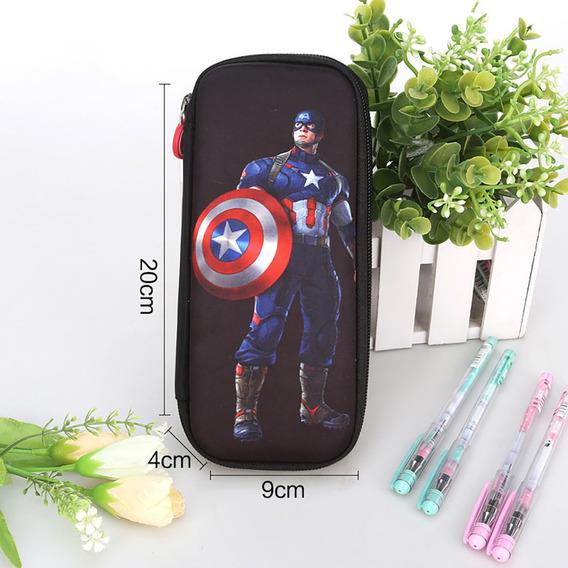 Superhero Lápis Estojo Azul Capitão Negro Capitão América