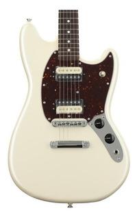 Fender American Mustang Guitarra Eléctrica Edición Especial Limitada Olympic White Hecha En Usa