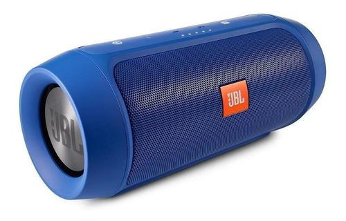 Alto-falante JBL Charge 2+ portátil com bluetooth blue