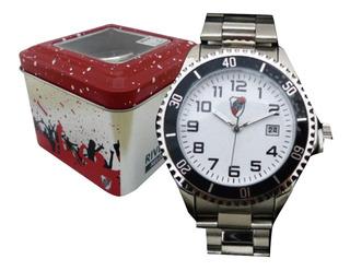 Reloj Metalico River Plate Con Lata