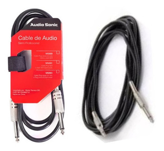 Cable Plug Plug 6.5 6 Metros Ideal Audio Guitarra Bajo