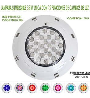 Lampara Led 36w Sumergible Alberca, Estanque, Jacuzzi Ip68