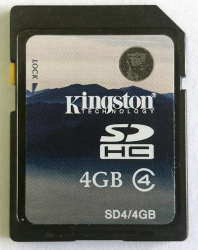 Cartão De Memória Kingston Sd 4gb Sd-k04g - Usado
