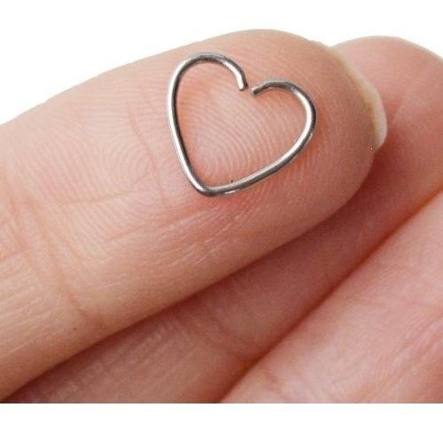 Piercing De Orelha Cartilagem Daith Clips De Coração De Aço