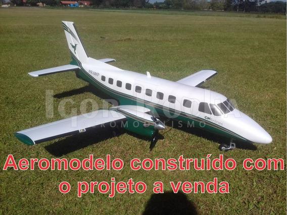 Planta Pdf Aeromodelo Emb-110 Bandeirante Construção Isopor