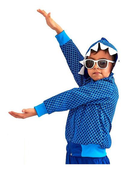 Conjunto Pants Y Chmarra Disfraz Baby Shark Para Niño